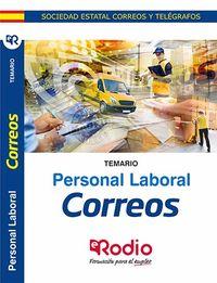 TEMARIO - PERSONAL LABORAL DE CORREOS Y TELEGRAFOS