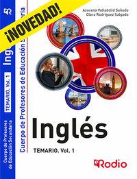 TEMARIO 1 - INGLES - CUERPO DE PROFESORES DE EDUCACION SECUNDARIA
