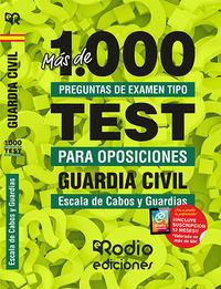 GUARDIA CIVIL - ESCALA DE CABOS Y GUARDIAS - MAS DE 1000 PREGUNTAS DE EXAMEN TIPO TEST