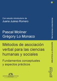 METODOS DE ASOCIACION VERBAL PARA LAS CIENCIAS HUMANAS Y SOCIALES - FUNDAMENTOS CONCEPTUALES Y ASPECTOS PRACTICOS