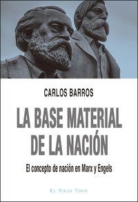BASE MATERIAL DE LA NACION, LA - EL CONCEPTO DE NACION EN MARX Y ENGELS