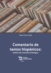 COMENTARIO DE TEXTOS HISPANICOS - ANALISIS DEL COMENTARIO FILOLOGICO