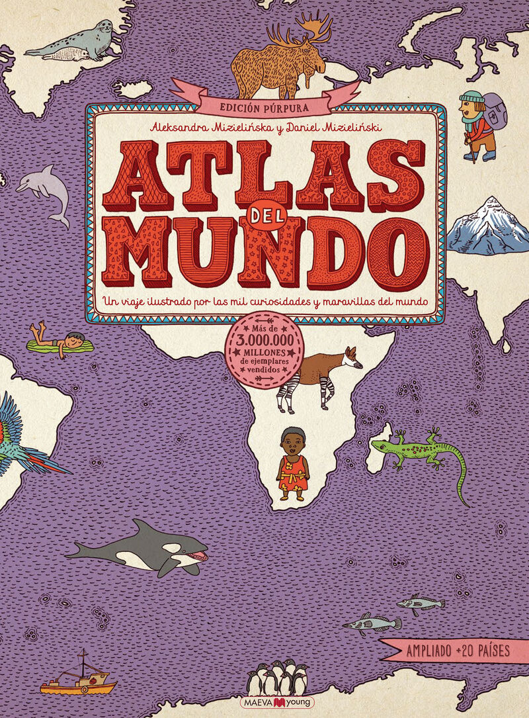 atlas del mundo (ed. purpura) - Aleksandra Mizielinska / Daniel Mizielinski