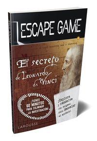 Escape Game - El Secreto De Leonardo Da Vinci - Aa. Vv.