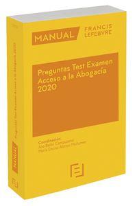 Manual Preguntas Test Examen Acceso A La Abogacia 2020 - Aa. Vv.