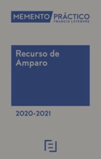 Memento Practico - Recurso De Amparo 2020-2021 - Aa. Vv.