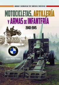 MOTOCICLETAS, ARTILLERIA Y ARMAS DE INFANTERIA 1940-1945