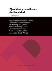 (7 ED) EJERCICIOS Y CUESTIONES DE FISCALIDAD