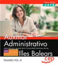 TEMARIO 3 - AUXILIAR ADMINISTRATIVO (BALEARS) - ADMINISTRACION GENERAL DE LA COMUNIDAD AUTONOMA DE LAS ILLES BALEARS