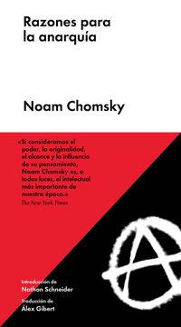 (5 Ed) Razones Para La Anarquia - Noam Chomsky