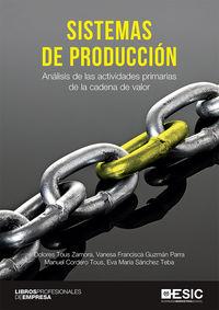 SISTEMAS DE PRODUCCION - ANALISIS DE LAS ACTIVIDADES PRIMARIAS DE LA CADENA DE VALOR