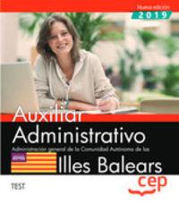 TEST - AUXILIAR ADMINISTRATIVO (BALEARS) - ADMINISTRACION GENERAL DE LA COMUNIDAD AUTONOMA DE LAS ILLES BALEARS