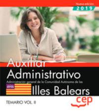 TEMARIO 2 - AUXILIAR ADMINISTRATIVO (BALEARS) - ADMINISTRACION GENERAL DE LA COMUNIDAD AUTONOMA DE LAS ILLES BALEARS