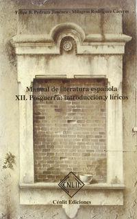 MANUAL DE LITERATURA ESPAÑOLA VOL. XII - POSTGUERRA (RUST)