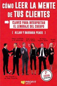 Como Leer La Mente De Tus Clientes - Claves Para Interpretar El Lenguaje Del Cuerpo - Allan Pease