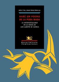 Hare Un Poema De La Pura Nada - La Intertextualidad En La Poesia De Luis Alberto De Cuenca - Aa. Vv.