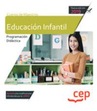 EDUCACION INFANTIL - CUERPO DE MAESTROS - PROGRAMACION DIDACTICA (CASOS PRACTICOS)