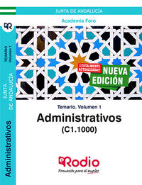 Temario 1 - Administrativos De La Junta De Andalucia (c1, 1000) - Aa. Vv.
