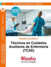 TEMARIO 3 - TECNICOS EN CUIDADOS AUXILIARES DE ENFERMERIA (CSV) - CONSELLERIA SANITAT VALENCIANA