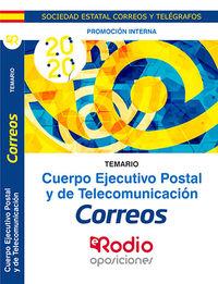 TEMARIO P. I. - CUERPO EJECUTIVO POSTAL Y DE TELECOMUNICACION - PROMOCION INTERNA