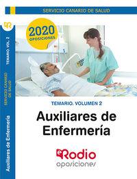 TEMARIO 2 - AUXILIARES DE ENFERMERIA (SCS) - SERVICIO CANARIO DE SALUD