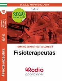 TEMARIO ESPECIFICO 3 - (SAS) FISIOTERAPEUTAS - SISTEMA ANDALUZ DE SALUD
