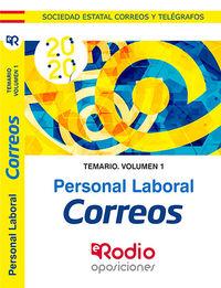 TEMARIO 1 - CORREOS - PERSONAL LABORAL