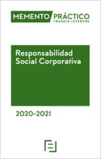 MEMENTO PRACTICO - RESPONSABILIDAD SOCIAL CORPORATIVA 2020-2021