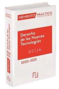 MEMENTO PRACTICO DERECHO DE LAS NUEVAS TECNOLOGIAS 2020-2021