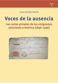 VOCES DE LA AUSENCIA - LAS CARTAS PRIVADAS DE LOS EMIGRANTES ASTURIANOS A AMERICA (1856-1936)
