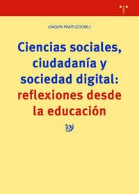 CIENCIAS SOCIALES, CIUDADANIA Y SOCIEDAD DIGITAL - REFLEXIONES DESDE LA EDUCACION