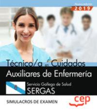 SIMULACROS DE EXAMEN - TECNICO EN CUIDADOS AUXILIAREN DE ENFERMERIA (SERGAS) - SERVICIO GALLEGO DE SALUD