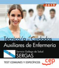 TEST COMUNES Y ESPECIFICOS - TECNICO CUIDADES AUXILIARES DE ENFERMERIA (SERGAS) - SERVICIO GALLEGO DE SALUD