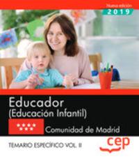 TEMARIO ESPECIFICO 2 - EDUCADOR INFANTIL (MADRID)