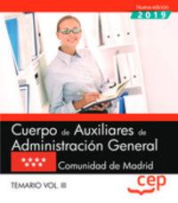 TEMARIO 3 - CUERPO DE AUXILIARES DE ADMINISTRACION GENERAL (MADRID)