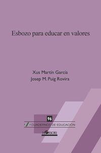 ESBOZO PARA EDUCAR EN VALORES