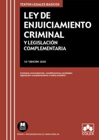 (18 ED) LEY DE ENJUICIAMIENTO CRIMINAL Y LEGISLACION COMPLEMENTARIA - CONTIENE CONCORDANCIAS, MODIFICACIONES RESALTADAS E INDICE ANALITICO