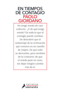 En Tiempos De Contagio - Paolo Giordano