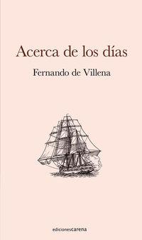 ACERCA DE LOS DIAS - ULTIMOS LIBROS DE POESIA