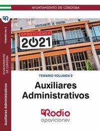 TEMARIO 2 - AUXILIAR ADMINISTRATIVO - AYUNTAMIENTO DE CORDOBA