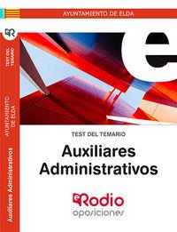 TEST - AUXILIARES ADMINISTRATIVOS - AYUNTAMIENTO DE ELDA