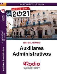 TEST - AUXILIARES ADMINISTRATIVOS - AYUNTAMIENTO DE PALMA