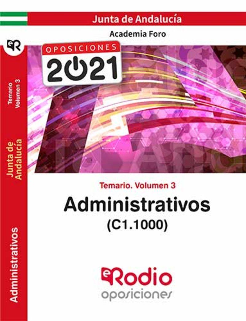 TEMARIO 3 - ADMINISTRATIVOS - JUNTA DE ANDALUCIA (C1.1000)