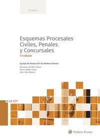 (7 ED) ESQUEMAS PROCESALES CIVILES, PENALES Y CONCURSALES