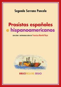 PROSISTAS ESPAÑOLES E HISPANOAMERICANOS - NOTAS CRITICAS