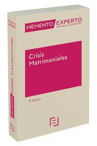 (5 ED) MEMENTO EXPERTO CRISIS MATRIMONIALES