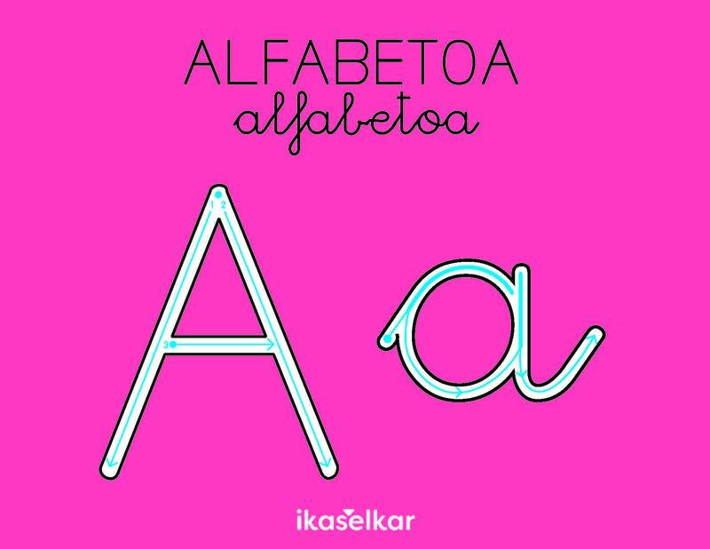 LH 1 - ALFABETOA. LETRA LARRIZ ETA LETRA XEHEZ