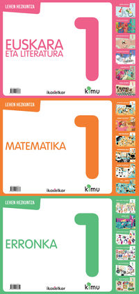 LH 1 - KIMU PACK (EUSKARA+ERRONKAK+MATEMATIKA)