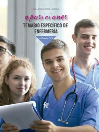 TEMARIO ESPECIFICO 3 - ENFERMERIA