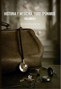 HISTORIA Y MEDICINA - 1000 EPONIMOS I